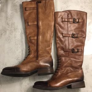 Vince Camuto Distressed leather boots